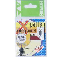 Вертлюг HITFISH X-Patten Rolling Swivel 3
